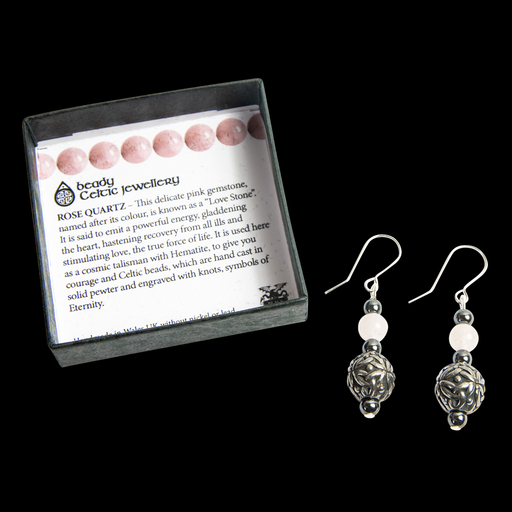 Boxed Beady Earrings with 12mm Spheres - Black Dragon Crafts