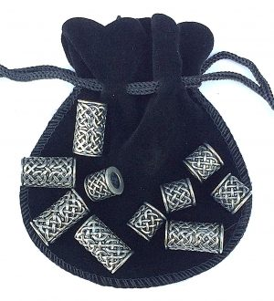 Celtic Bead Beard Bag