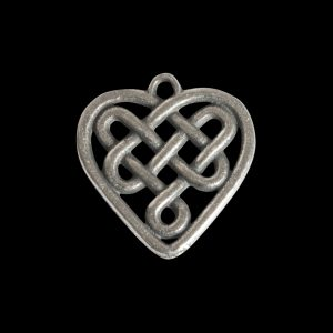 Celtic L Heart Bead