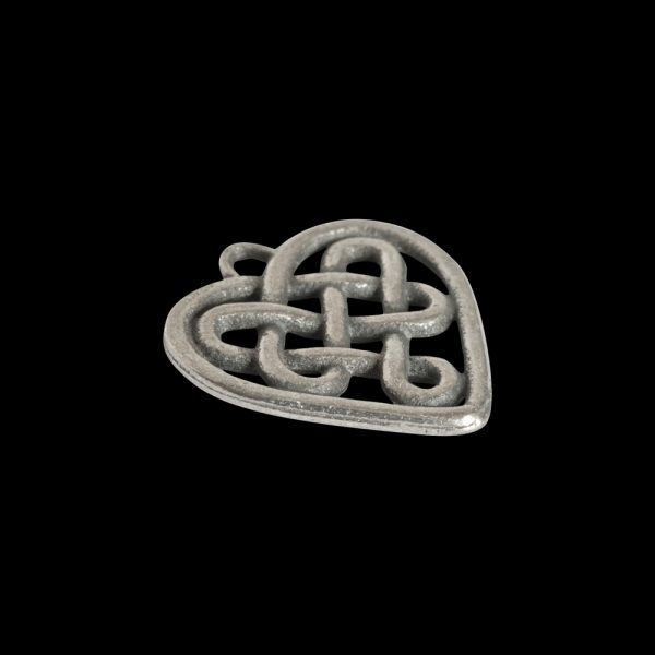 Celtic S Heart Bead