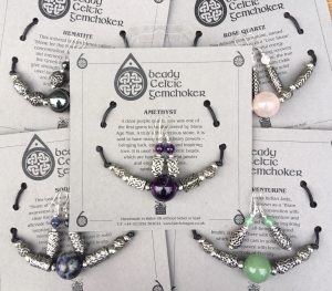 Carded Beady Gemchoker & Earrings